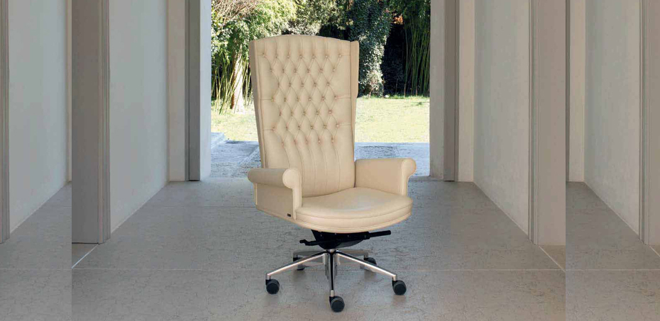Empire leather armchair Mascheroni アンティーク 椅子