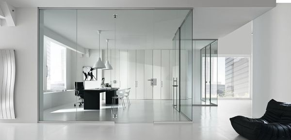 glass partition wall オフィス パーティション